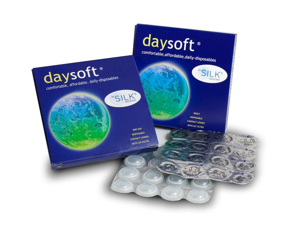 To read daysoft contact lens